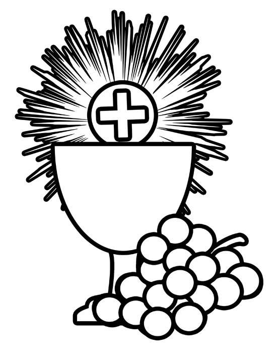 bread communion coloring pages