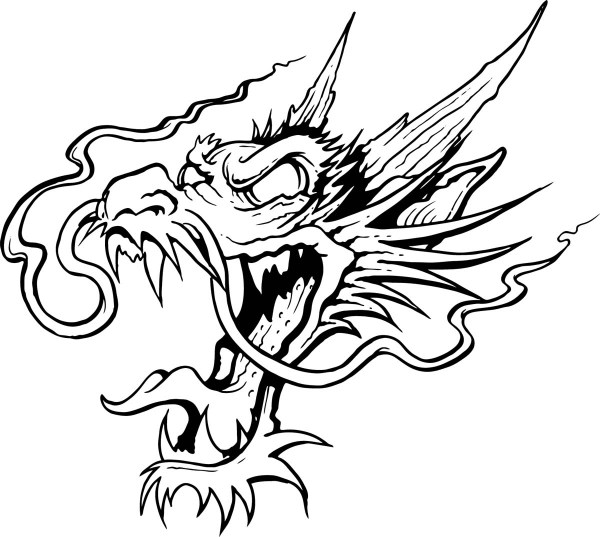 Drawings Of Dragons Heads ClipArt Best