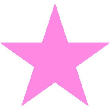 pink star clipart