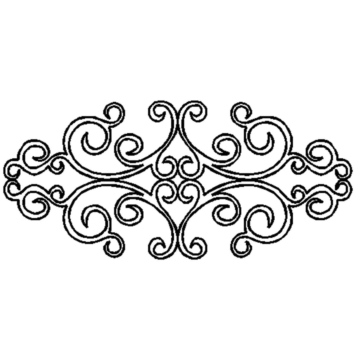 Damask Scroll Clip Art