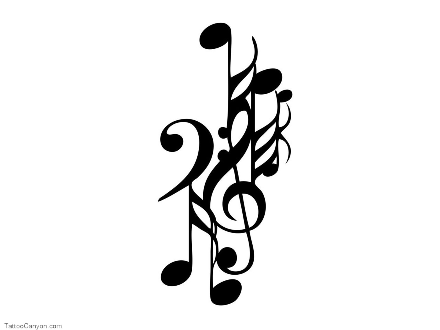 Free Designs Music Notes In Group Tattoo Wallpaper Picture