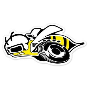 Super Bee Logo Vector
