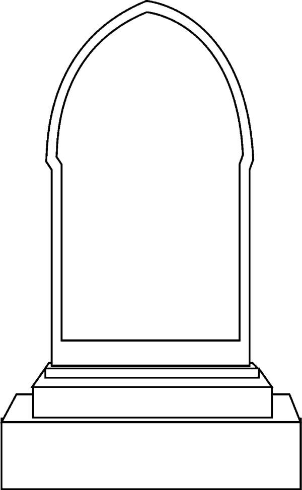blank headstones - clipart