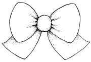 hair bow drawing - clipart