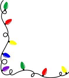 christmas light border clip art