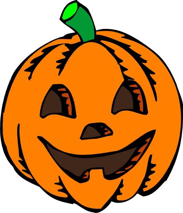 scary pumpkin - clipart