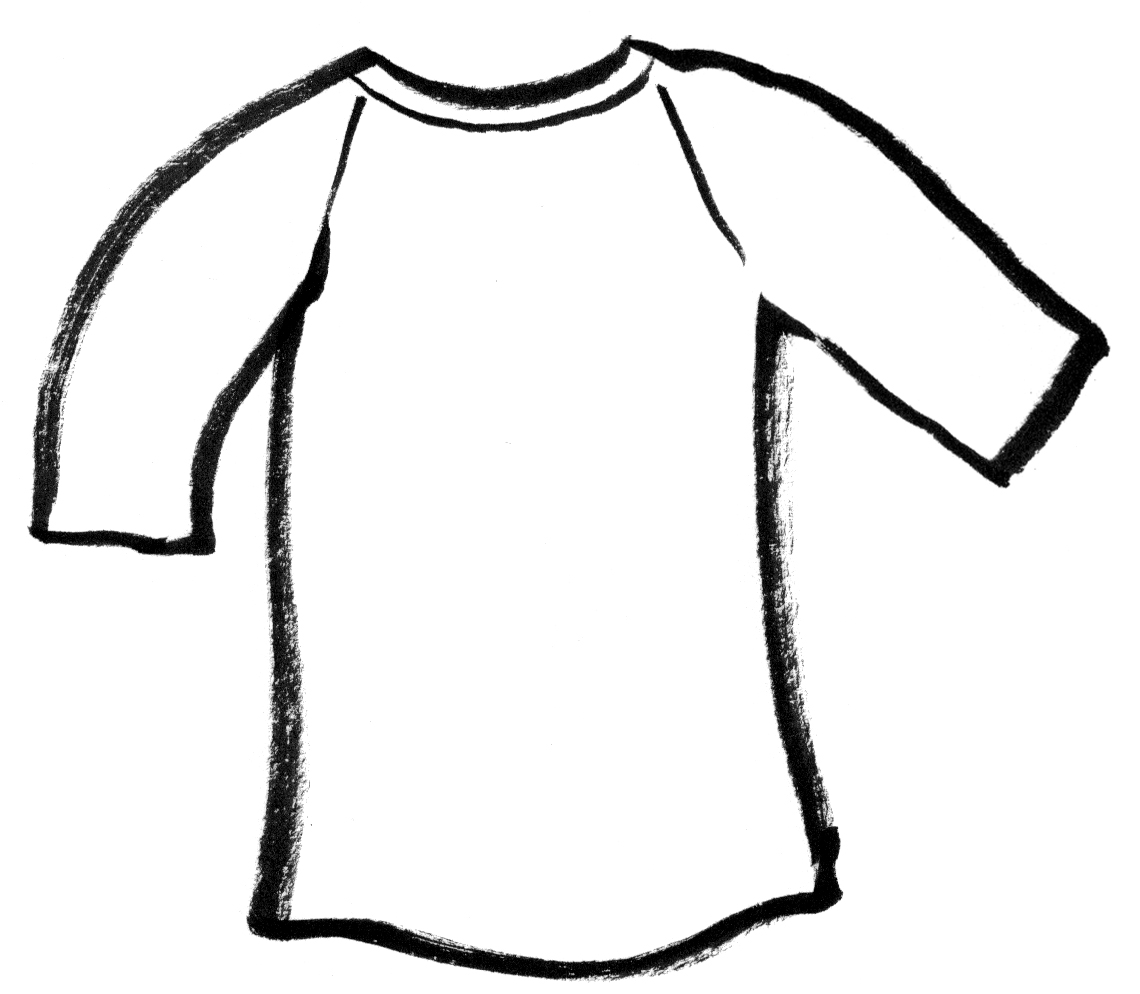 T Shirt Outline Clipart For Kids Coloring