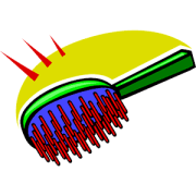 hair brush cartoon - clipart