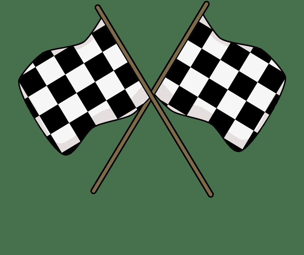 Cartoon Car Race Track
