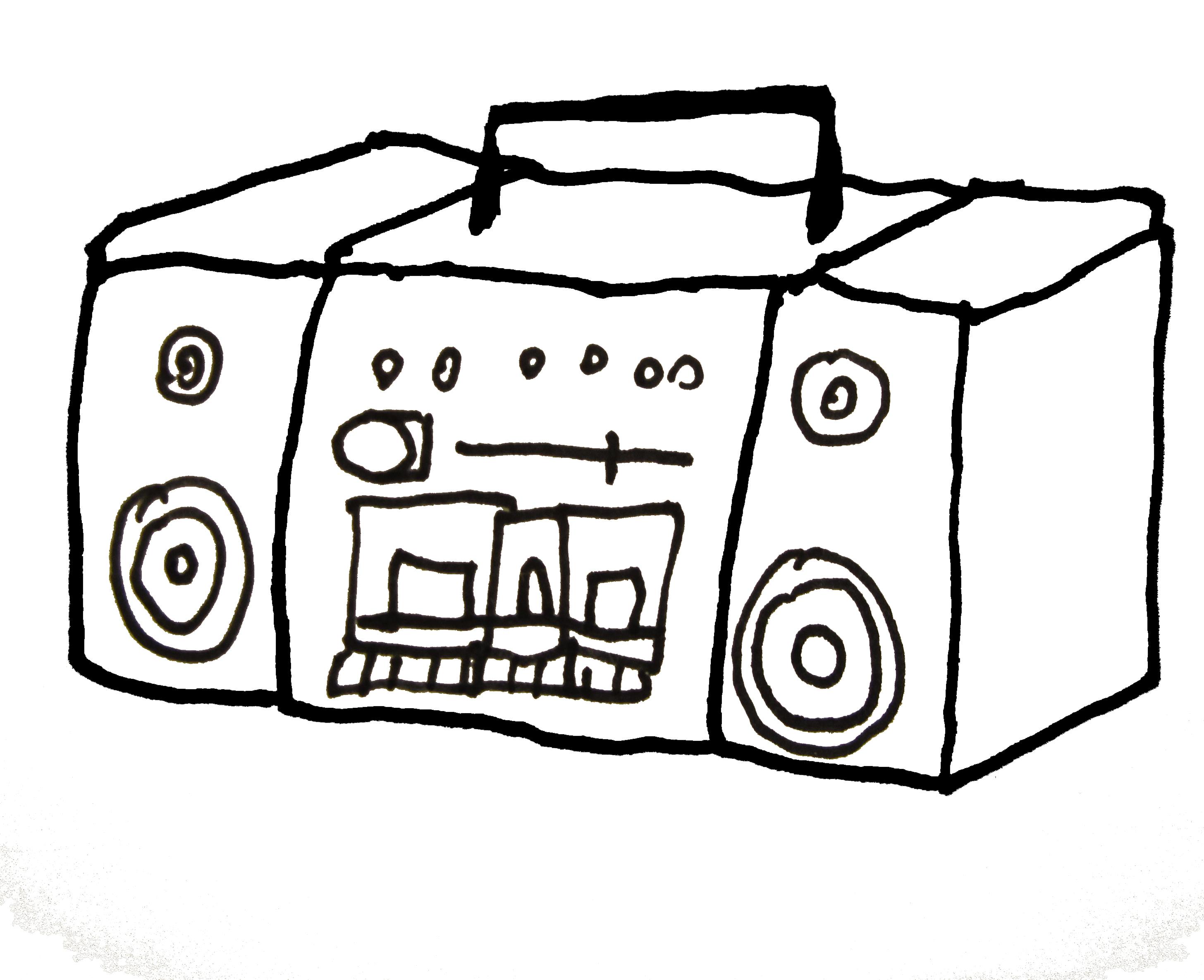 Boombox Drawing