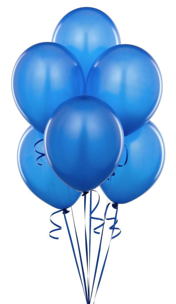 blue balloons - clipart