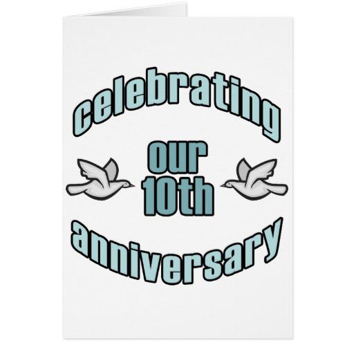 10th wedding anniversary - clipart