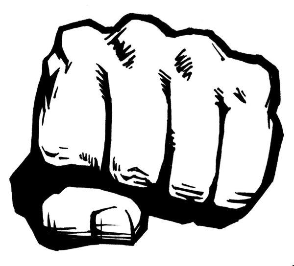 fist icon - clipart