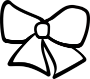 hair bow clip art - clipart