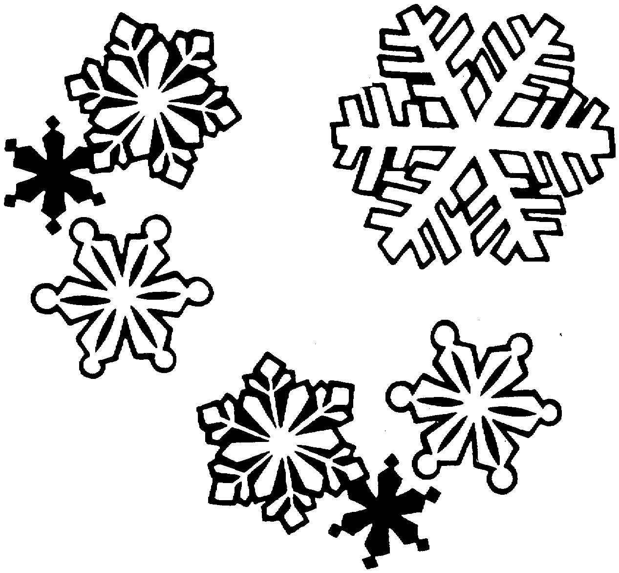 Snowflake Black And White Clipart