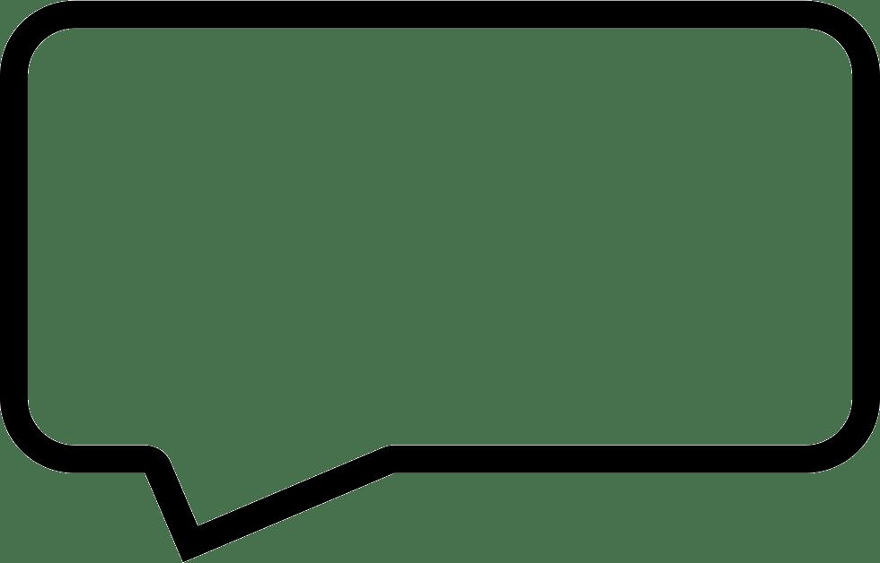 Message Speech Bubble Outline Of Rectangular Shape Svg Png