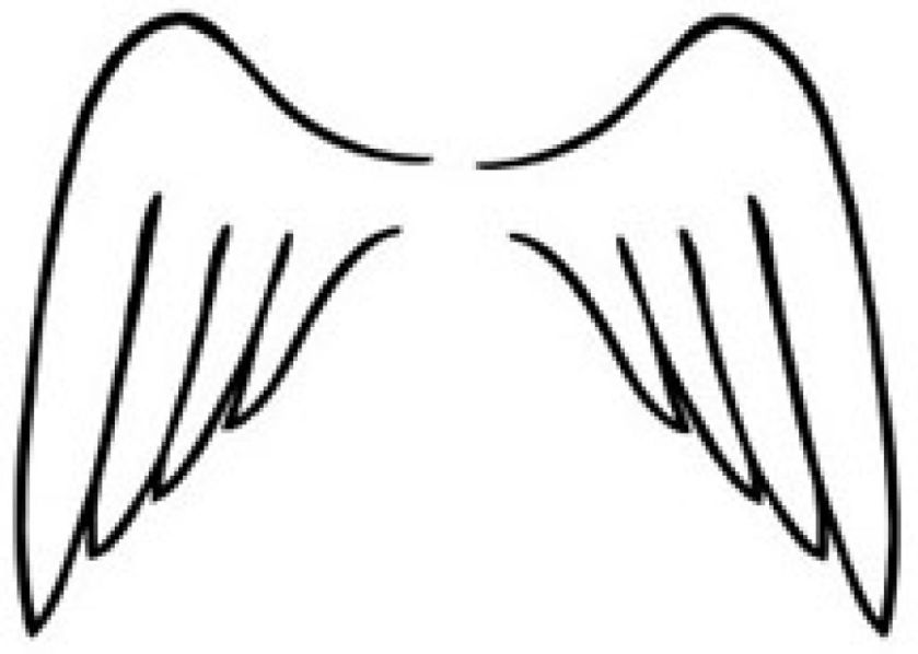 angel wings coloring pages – mcanalley coloring  clipart