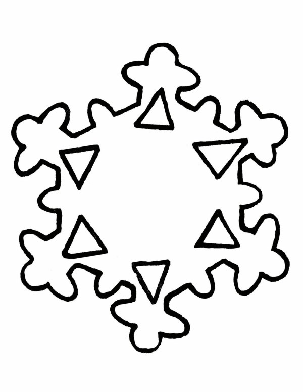 snowflake outline - clipart