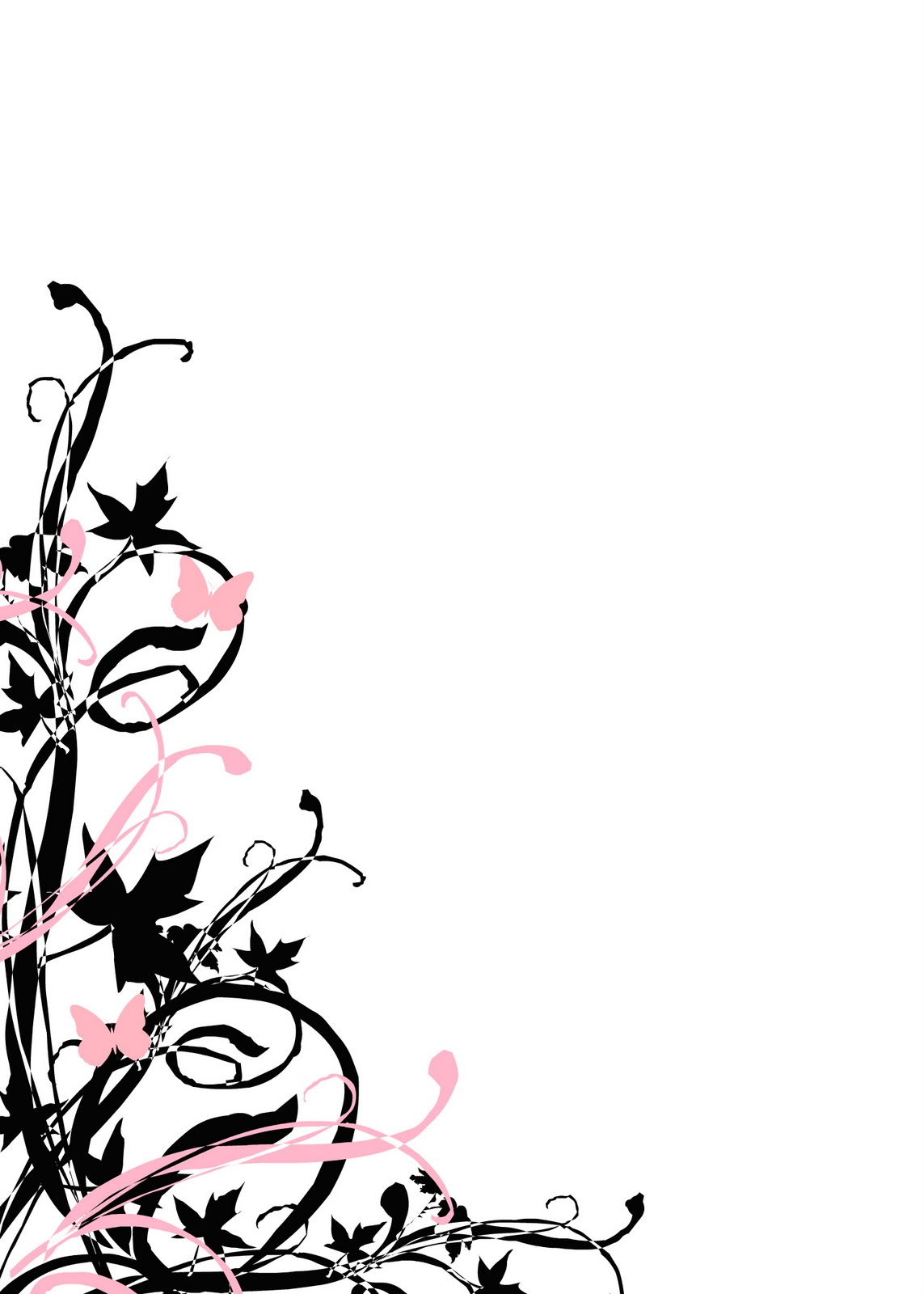 Butterfly Black And White Outline 1 Desktop Hd Background