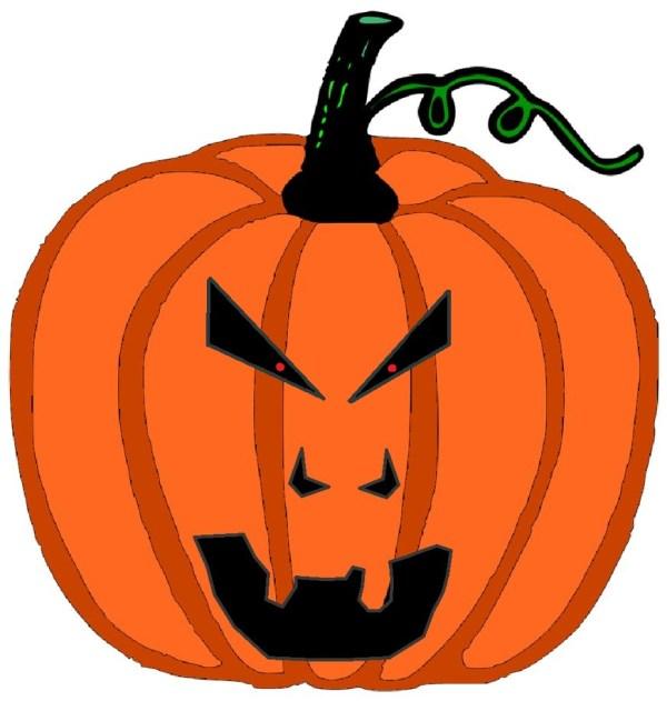 scary pumpkin eyes - clipart