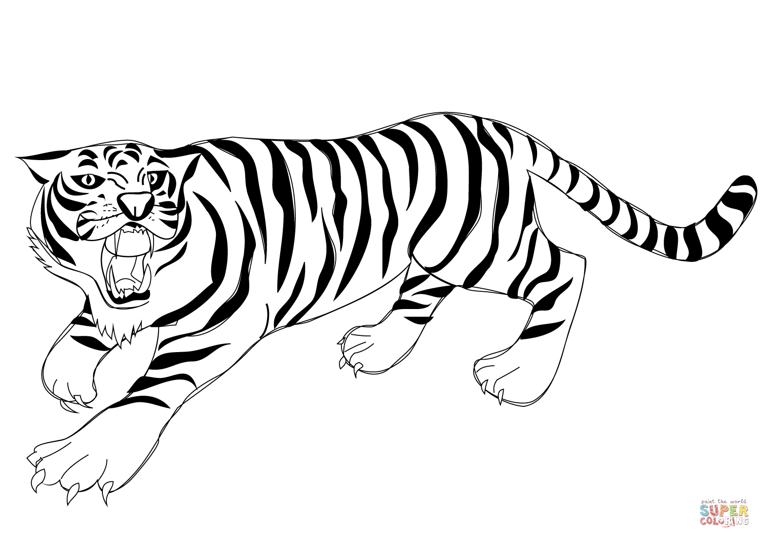 Tiger Outlinecoloring Page