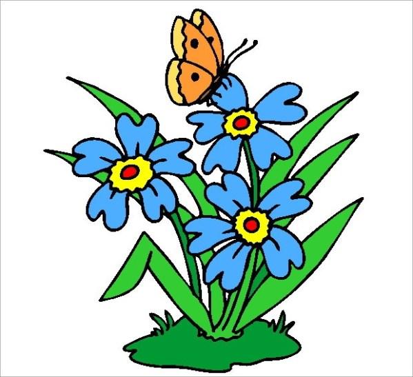 butterfly flower - clipart