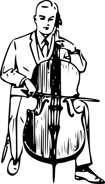 Cartoon Cello Drawing