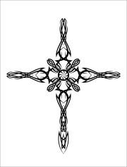 tribal crosses - clipart