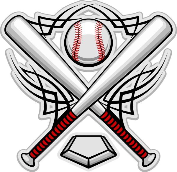 printable baseball field - clipart