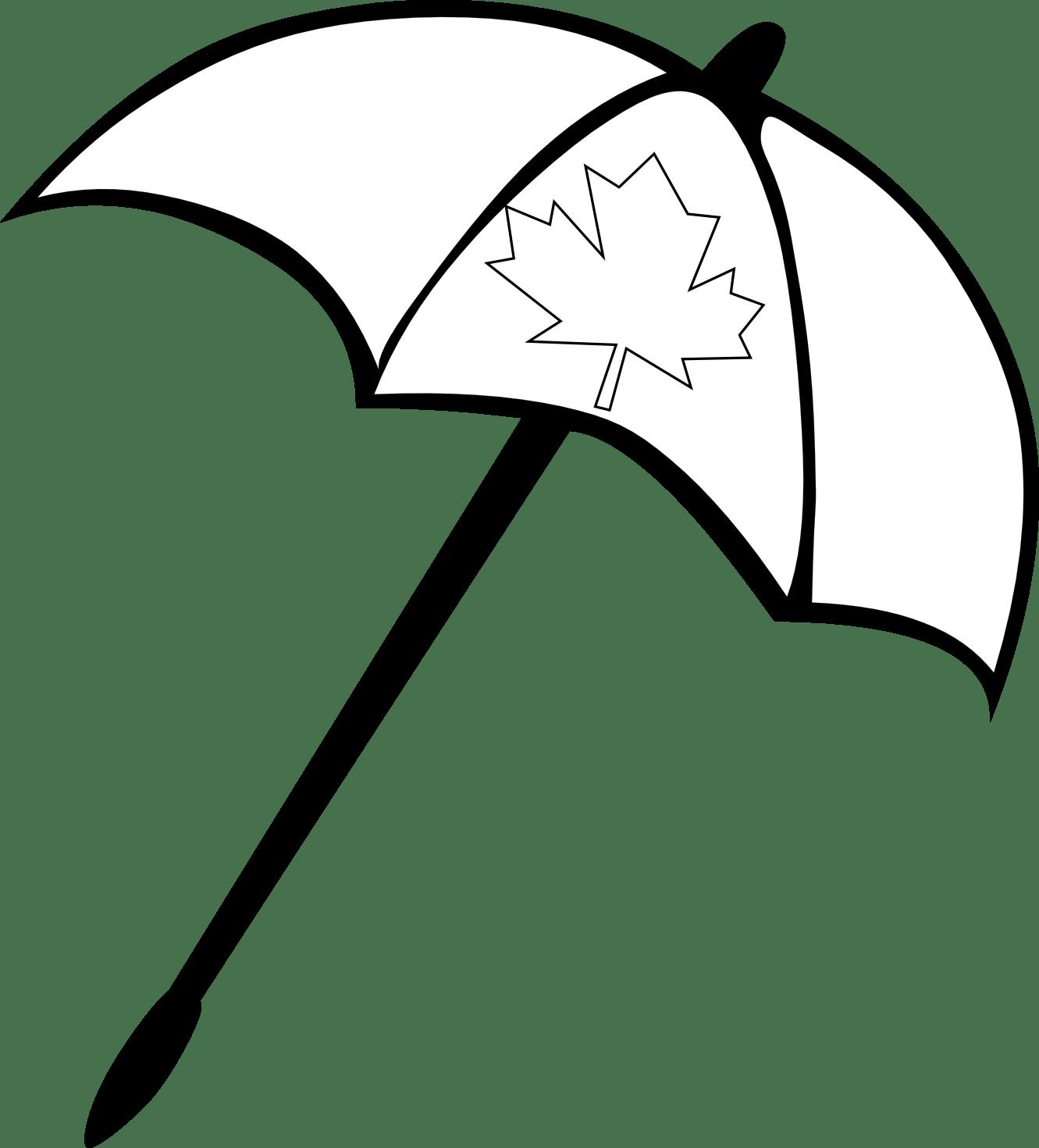 Umbrella Clip Art Black And White