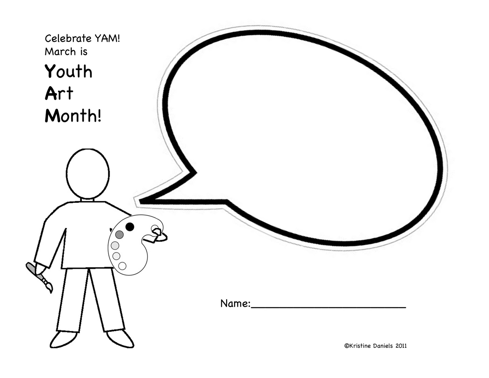 Blank Speech Bubble Template
