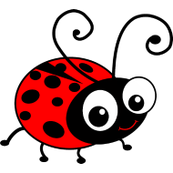 cartton ladybird - clipart