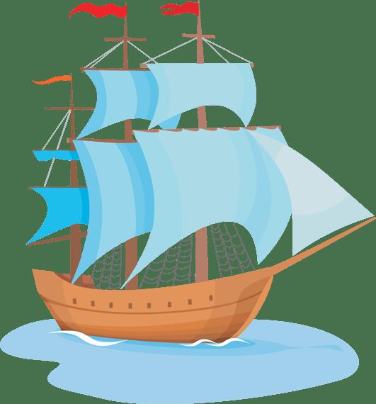 clipper ship clip art - clipart