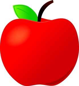 teacher apple - clipart