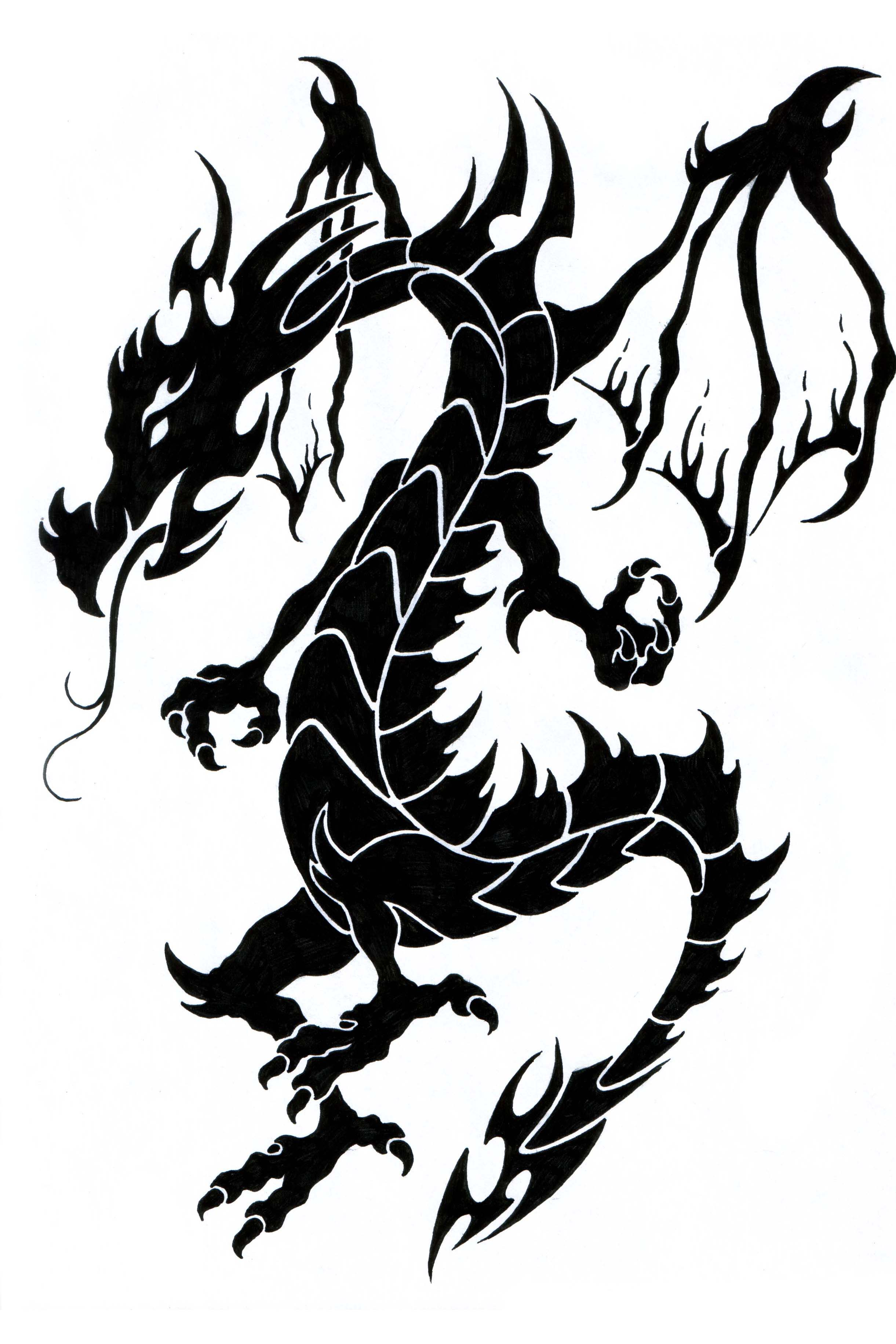 Dragon Tattoo Graphics Code Tribal Dragon Tattoo Comments