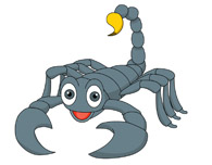 cartoon scorpion - clipart