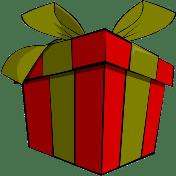 cartoon christmas presents - clipart