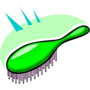 hair brush cartoon - clipart