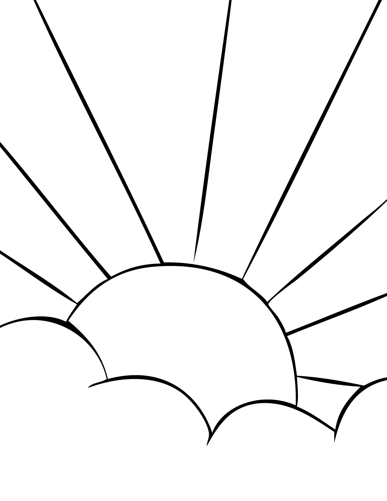 Sun Coloring For Kids Printable Coloring Pages