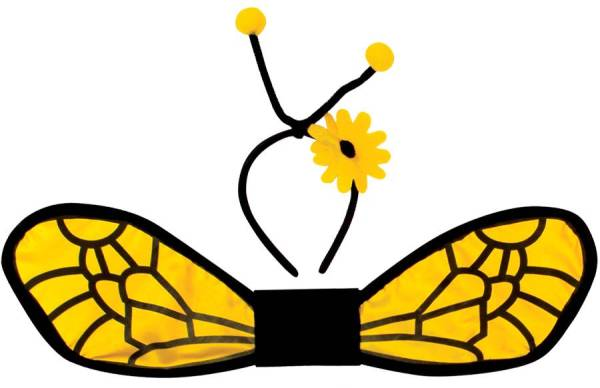 bee wing template - clipart