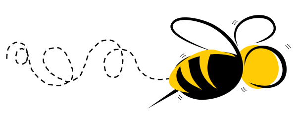 buzzing bees - clipart