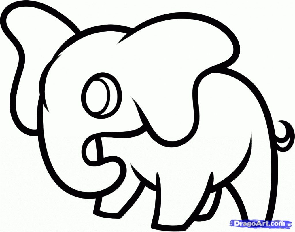 Easy Elephant Drawing