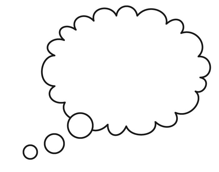 Free speech bubbles coloring pages