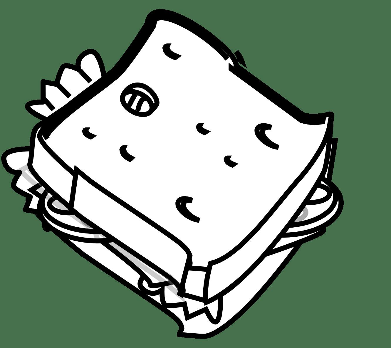 Rg 1 24 Sandwich Black White Line Art Scalable