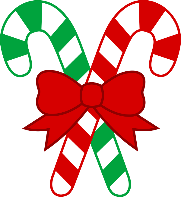 candy canes - clipart