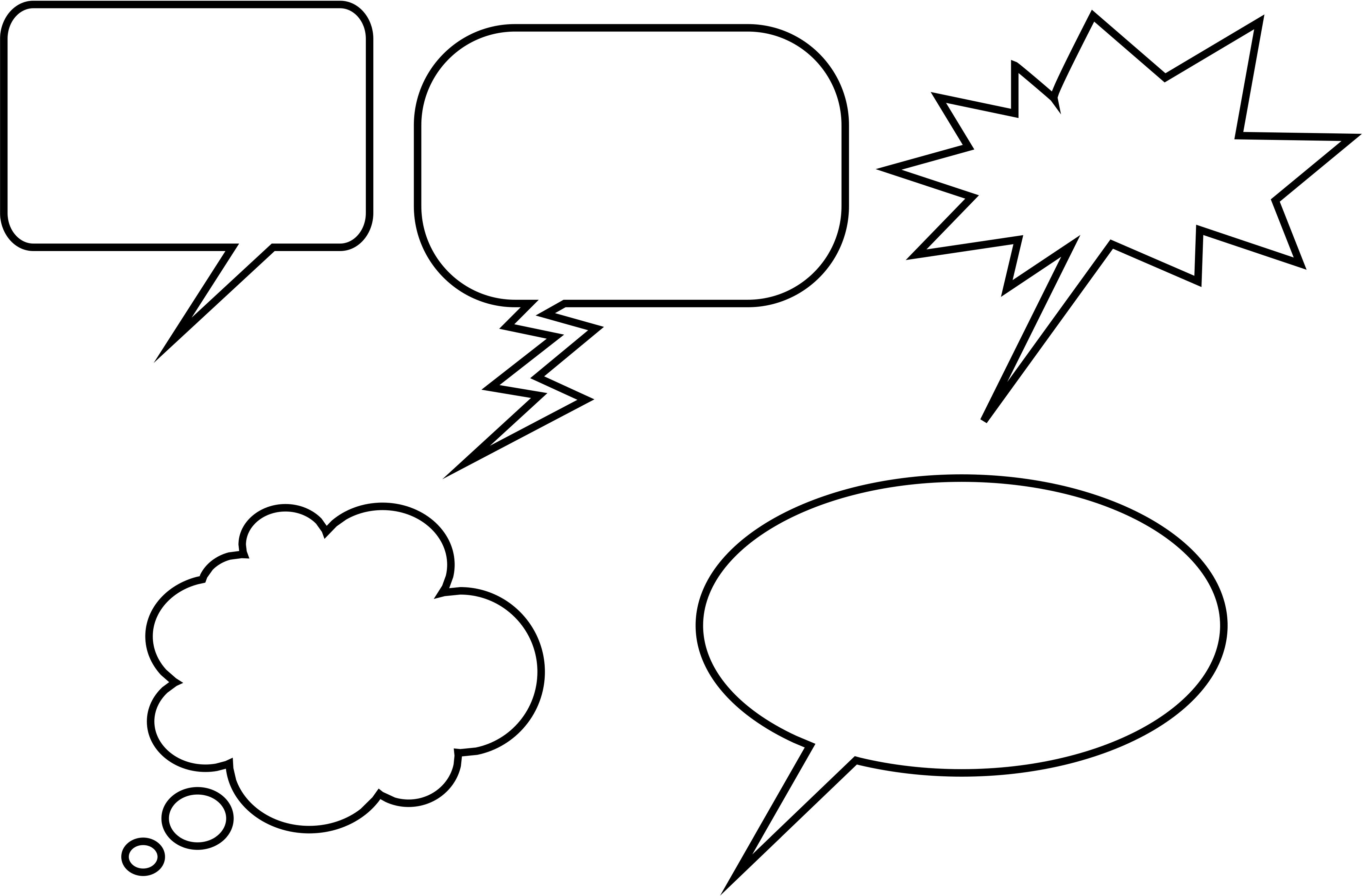 Comic Book Speech Bubbles Printable
