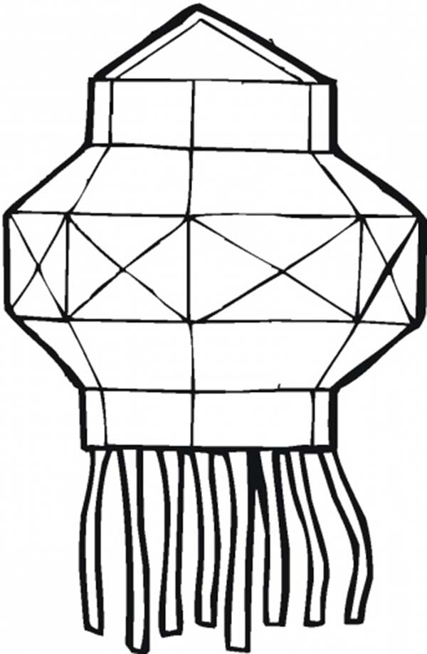 Chinese Lantern Page Coloring Pages