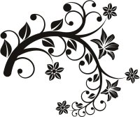 Floral Art Drawing - ClipArt Best