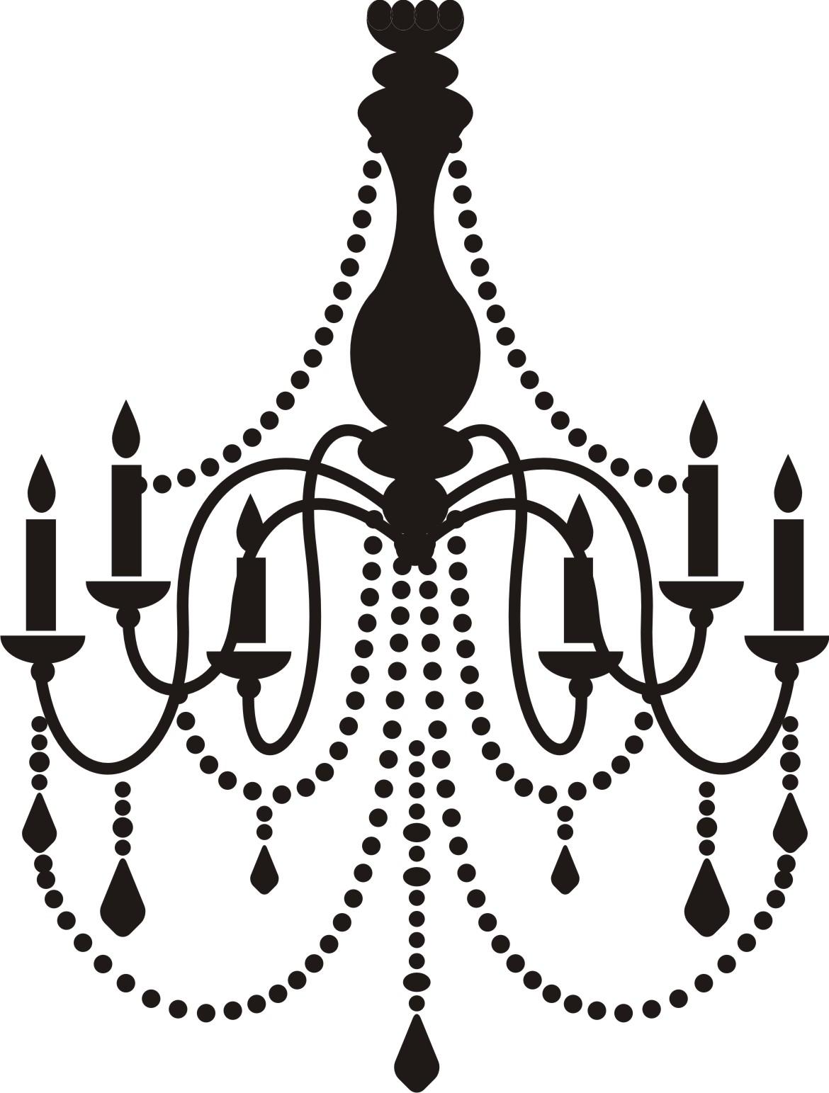Chandelier Silhouette Clip Art Free