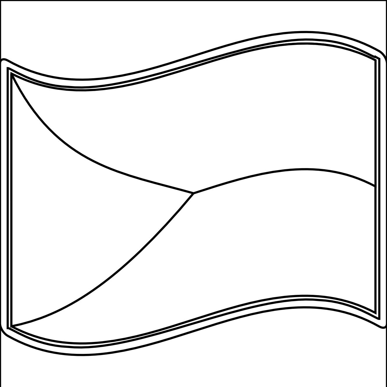 Empty Cartoon Flag